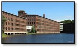 """DEC Headquarters in Maynard MA -- """"The Mill"""", Digital Equipment Corp. DEC"""