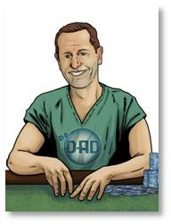 Doctor Dad in scrubs