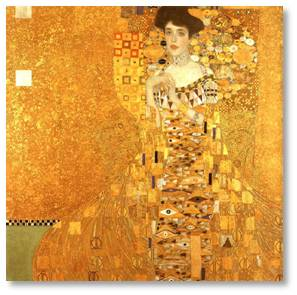 Portrait of Adele Bloch-Bauer by Gustav Klimt, the Woman in Gold, Neue Gallery New York City