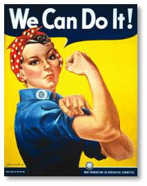 Rosie the Riveter poster, We Can Do It