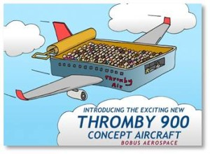 Introducing the exciting new Thromby 900 concept aircraft from Bobus Aerospace