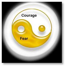 Courage is defined as the state or quality of mind or spirit that enables one to face danger, fear, confidence, and resolution; bravery.