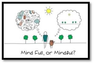 Mindfulness is another word for awareness. It is being present; to ourselves and our surroundings.