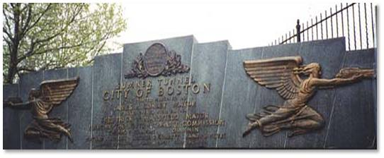 Boston is home to two modern angels who celebrate the speedy passage of automobiles.