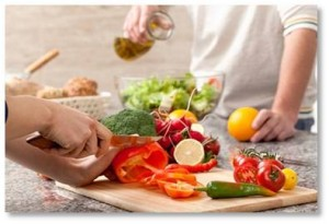 You can make dietary changes that should help with psoriasis.   •First, eat a diet of 50% raw foods—raw veggies (except broccoli, which should not be eaten raw) can be blended into a smoothie or steamed—and add some fish 2-3 times a week.