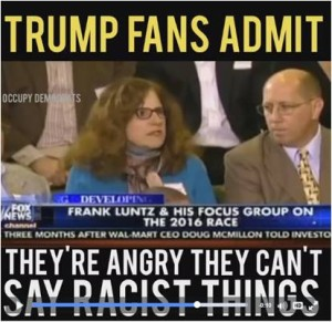 """Occupy Democrats posted a remarkable video on Facebook Wednesday, entitled, """"Trump Fans Admit They're Angry They Can't Say Racist Things"""""""