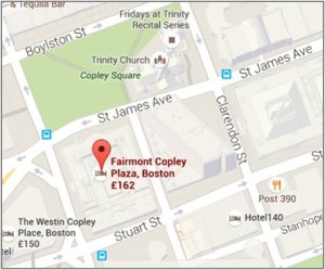 Directions to the Fairmont Copley Plaza Hotel