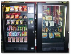 19. Vending-machine food makes up a large part of your diet.