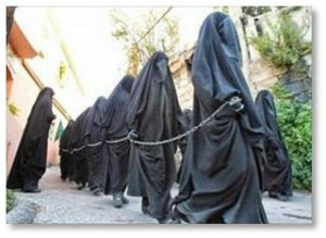 . ISIS men say they're following the literal rules of the Quran and pray before and after they rape their slaves.