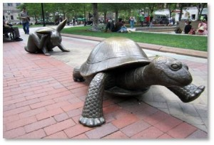 The Tortoise and the Hare, Copley Square, Nancy Schön, about Boston