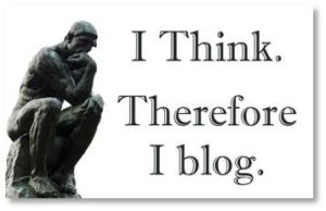 I think. therefore I blog, blogging, writing