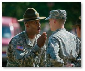 Draft, Marine's boot camp, de-personalization, drill sergeant
