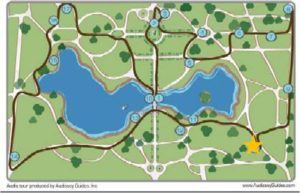 Boston Public Garden, Map, Angell of the Waters, Ether Monument, Bagheera Fountain