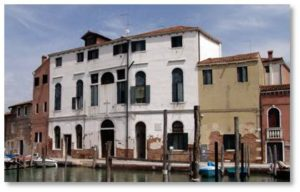 Eventually she settled in Venice, a city with an appealing artistic environment, and became a painter. Her studio in the Ca' Frollo was well known and, although she lived in poverty, she shared what little she had with the needy, particularly the neighborhood children.
