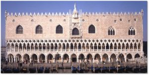 The original Palazzo Ducale is an enormous structure that served as Venice's seat of government for many centuries. It housed the city's elected ruler, or Doge, and was the venue for its law courts, its civil administration and bureaucracy. Until it was relocated across the Bridge of Sighs, the city jail also resided there.