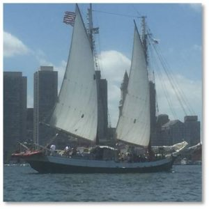Tall Ship in Boston Harbor