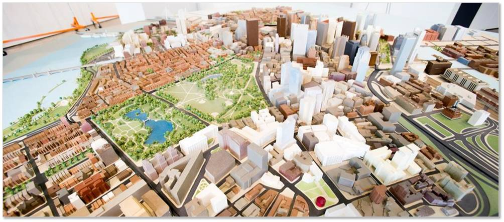 If you have ever wanted to get a bird's-eye view of the city—assuming that you can fly very high—this is it. The model, which takes up most of the storefront gallery at the Boston Society of Architects, gets updated regularly so you can see just how much the city has grown up as well as out.