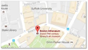 You can find information on library hours and tour schedules on the Take a Tour page at the Athenaeum's website. Directions, maps and information on parking are on the Plan Your Visit page.
