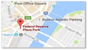 Directions and information about parking can be found on Federal Reserve Plaza's website.