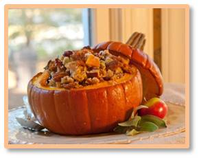 Pumpkins are decorative, delicious and good for you. They are high in fiber, contain very little saturated fat, cholesterol, and salt and come with vitamin E, thiamine, niacin, vitamin B6, folic acid, magnesium and phosphorus. So what can we do with them?
