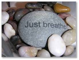 Take three ujjayi breaths. Quiet your mind. Focus your thoughts on the breath going in and out. Repeat a mantra if that helps. When your thoughts wander, bring them back to your breathing. This is not failure. Meditation is the process of calming your thoughts and that means bring them back to your breath over and over. There is no failure.
