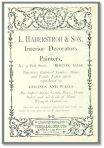 Albert Haberstroh was the son of Lucas Haberstroh, who emigrated from Germany and founded an interior decoration and painting firm.