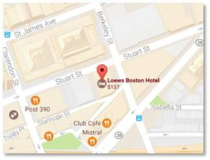 The hotel is a short walk from both the Back Bay train station and the Arlington Street MBTA stop. Parking is, as always, most affordable at the Boston Common Garage, which is also just a pleasant stroll through the Public Garden.
