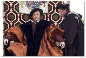 Donald Trump and Steve Bannon as Henry VIII and Thomas