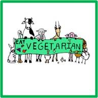 A vegetarian is someone who doesn't eat meat, including beef, chicken, pork, or fish and may or may not choose to eat other animal products such as eggs, dairy or honey.