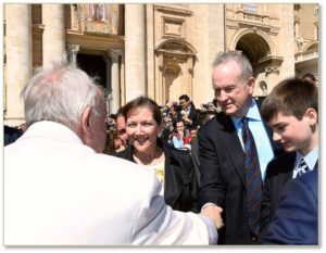 Bill O'Reilly meets Pope Francis
