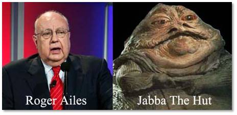 Roger Ailes and Jabba the Hutt