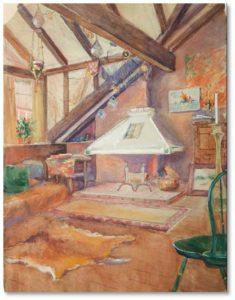 """Artist's Studio: Sunflower Castle"" by Gertrude Beals Bourne"