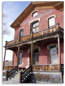 ghost town hotel, Hotel Meade, Bannock Montana
