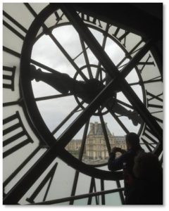 Musee Dorsay, Louvre, Paris, time