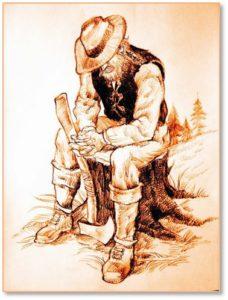 woodcutter illustration
