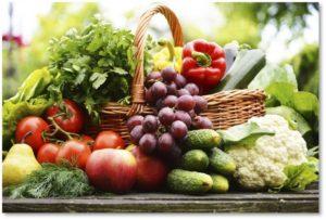 summer fruit and vegetable basket, july 2017 posts