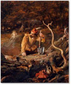 John Anster Fitzgerald, illustration, woodcutter, elf