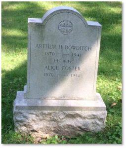 Arthur Bowditch, Walnut Hills Cemetery,Brookline MA