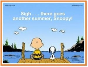 Charlie Brown, Snoopy, there goes another summer