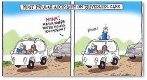 driverless car, accessory, flip the bird, automotive technologies