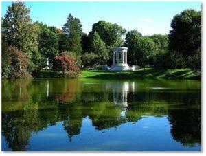 Halcyon Lake, Mount Auburn Cemetery, garden cemeteries,