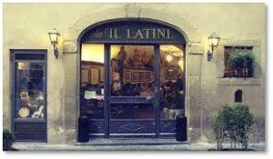 Ristorante Il Latini, Florence, small world story
