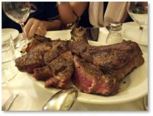 Tuscan steak, Ristorante Il Latini, Florence