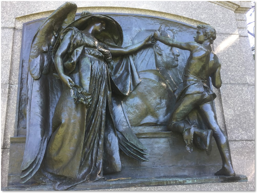 The Angel of Death and the Sculptor, Daniel Chester French, Martin Milmore, Forest Hills Cemetery