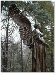 Angel of Peace, Douglas Yeo, Daniel Chester French, George Robert White, Forest Hills Cemetery