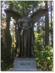 Angel of Peace, Daniel Chester French, George Robert White, Forest Hills Cemetery