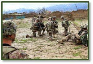 soldiers kneeling, take a knee, gesture of respect