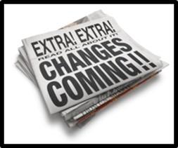 Change is Coming, newspaper headline
