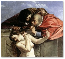 Susanna and the Elders by Artemesia Gentileschi