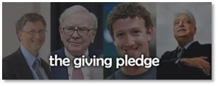 The Giving Pledge, Bill Gates, Warren Buffett, the One Percent, philanthropy